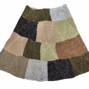 Anthropologie Sparrow Knit Patchwork Skirt
